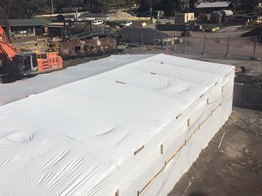Asbestos removal safety bubble
